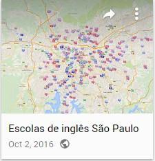 Todas as escolas de inglês no mapa